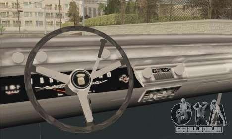 Cadillac Deville Lowrider 1967 para GTA San Andreas traseira esquerda vista