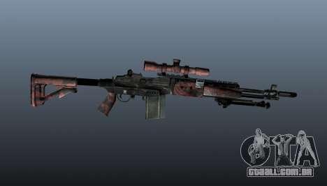 Rifle sniper M21 Mk14 v5 para GTA 4 terceira tela