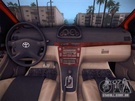 Toyota Vios Modified Indonesia para GTA San Andreas vista superior