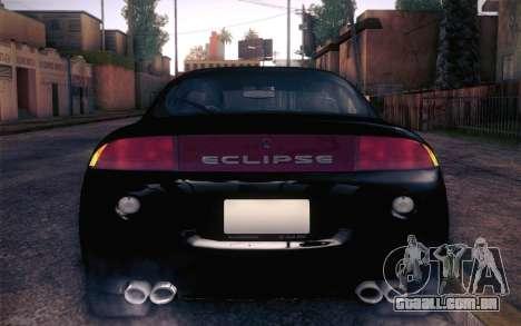 Mitsubishi Eclipse Fast and Furious para GTA San Andreas vista traseira