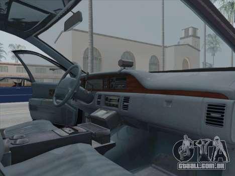 Chevrolet Caprice LAPD 1991 [V2] para GTA San Andreas vista traseira