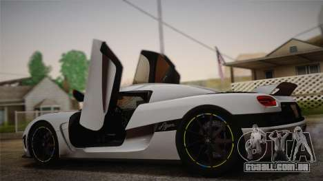 Koenigsegg Agera para GTA San Andreas esquerda vista