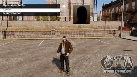 Serviços especiais Merryweather e Lester para GTA 4 terceira tela