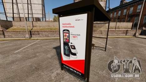 Novos cartazes de publicidade nas paragens de au para GTA 4