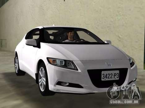 Honda CR-Z 2010 para GTA Vice City vista lateral