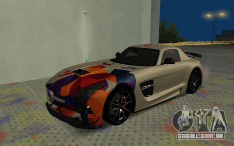 Mercedes-Benz SLS AMG 2013 Black Series para vista lateral GTA San Andreas