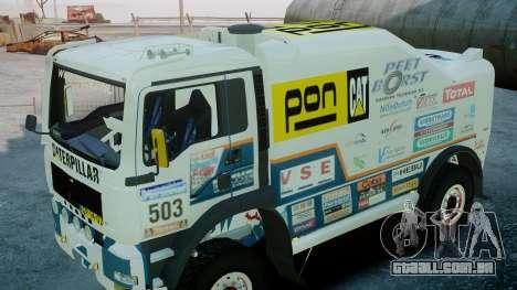 MAN TGA GINAF Dakar Race Truck para GTA 4 vista direita