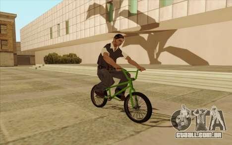 BMX para GTA San Andreas esquerda vista