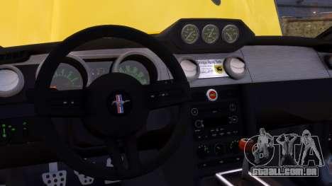 Shelby Terlingua Mustang para GTA 4 vista inferior