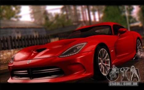 SRT Viper Autovista para GTA San Andreas esquerda vista