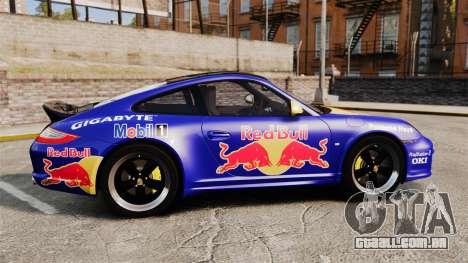 Porsche 911 Sport Classic 2010 Red Bull para GTA 4 esquerda vista
