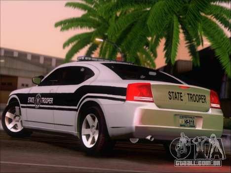 Dodge Charger San Andreas State Trooper para GTA San Andreas vista direita