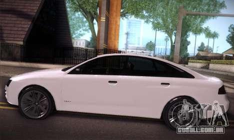 GTA V Tailgater para GTA San Andreas vista interior