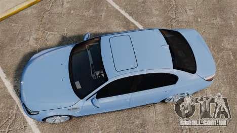 BMW M5 2009 para GTA 4 vista direita
