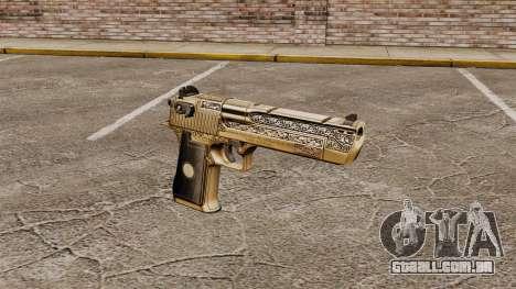 Pistola de águia do deserto de luxo para GTA 4