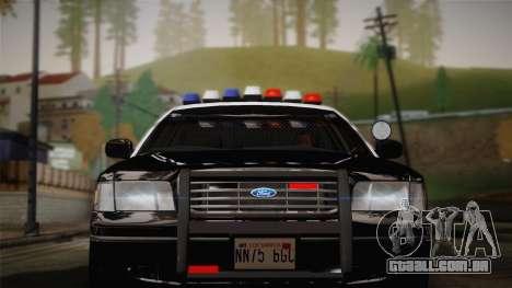 Ford Crown Victoria 2005 Police para GTA San Andreas vista traseira