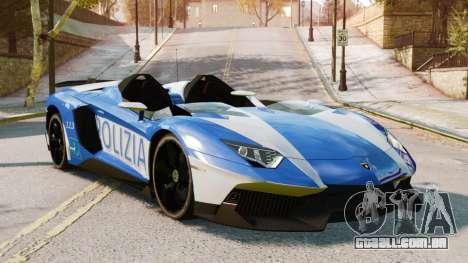 Lamborghini Aventador J Police para GTA 4 traseira esquerda vista