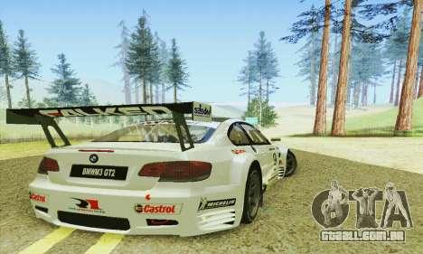 BMW M3 GT2 E92 ALMS para GTA San Andreas vista direita