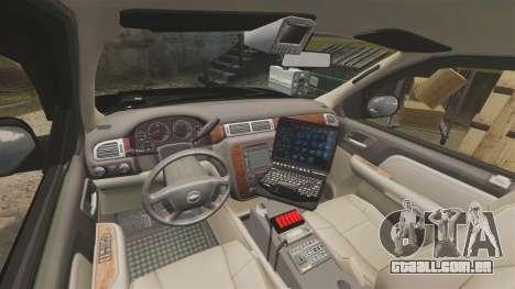 Chevrolet Tahoe 2008 LCPD STL-K Force [ELS] para GTA 4 vista de volta