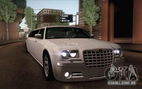 Chrysler 300C Limo 2007 para o motor de GTA San Andreas