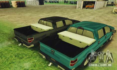 Ford F150 XLT Supercrew Trim para GTA San Andreas vista interior