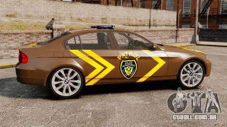 BMW 350i Indonesia Police v2 [ELS] para GTA 4 esquerda vista