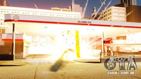 A nova configuração de incêndios e explosões para GTA 4 por diante tela