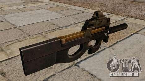 Nova pistola-metralhadora P90 para GTA 4 segundo screenshot