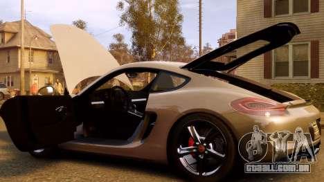 Porsche Cayman 981 S v2.0 para GTA 4 vista inferior
