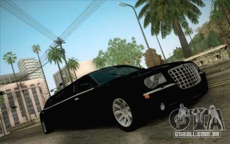 Chrysler 300C Limo 2007 para GTA San Andreas vista interior