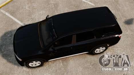 Dodge Durango 2013 Sheriff [ELS] para GTA 4 vista direita