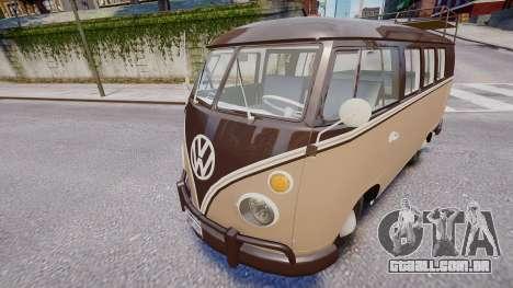 Volkswagen Transporter 1962 para GTA 4 traseira esquerda vista