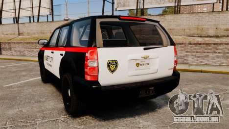 Chevrolet Tahoe 2008 LCPD STL-K Force [ELS] para GTA 4 traseira esquerda vista