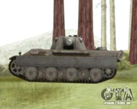 Pzkpfw V Panther II para GTA San Andreas traseira esquerda vista