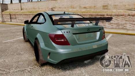 Mercedes-Benz C63 AMG para GTA 4 traseira esquerda vista