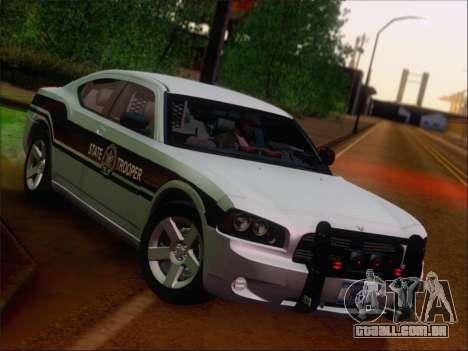 Dodge Charger San Andreas State Trooper para GTA San Andreas vista superior