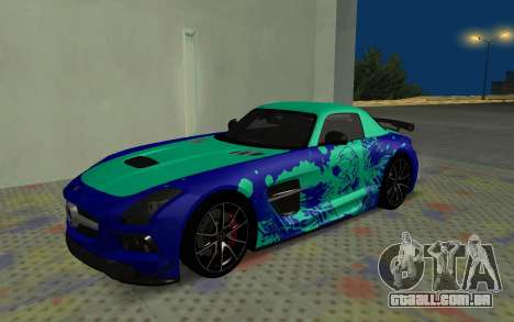 Mercedes-Benz SLS AMG 2013 Black Series para GTA San Andreas vista inferior