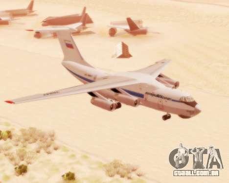 Il-76td v 2.0 para GTA San Andreas esquerda vista