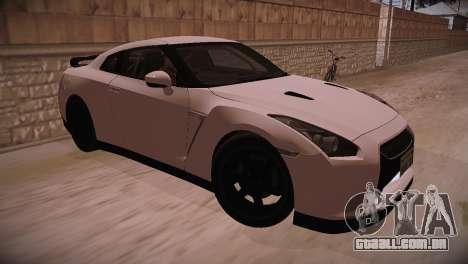Nissan GT-R SpecV Ultimate Edition para GTA San Andreas traseira esquerda vista