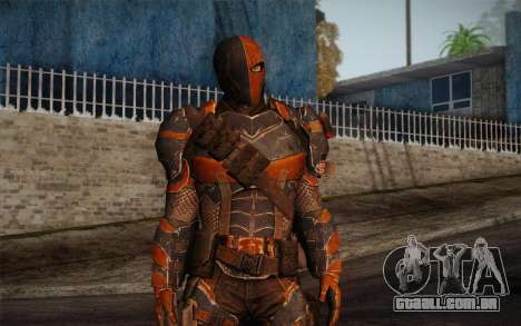 Deathstroke from Batman: Arkham Origins para GTA San Andreas segunda tela