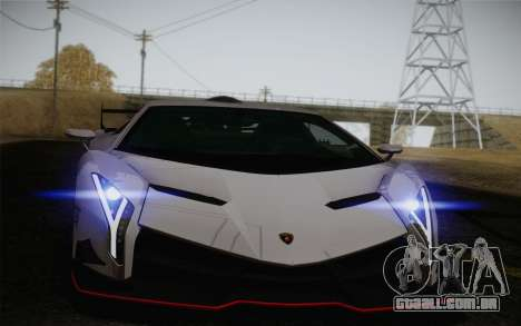 Lamborghini Veneno LP750-4 2013 para GTA San Andreas vista inferior
