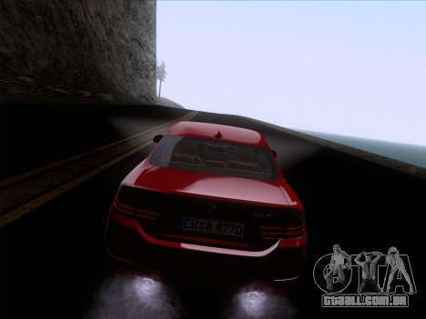 BMW F32 4 series Coupe 2014 para vista lateral GTA San Andreas