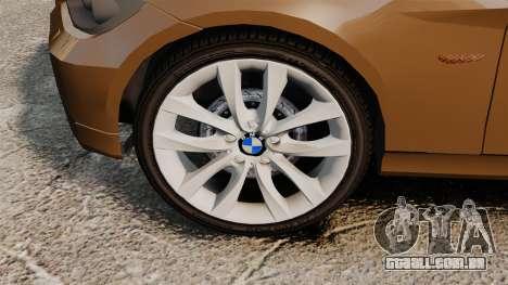 BMW 350i Indonesia Police v2 [ELS] para GTA 4 vista de volta