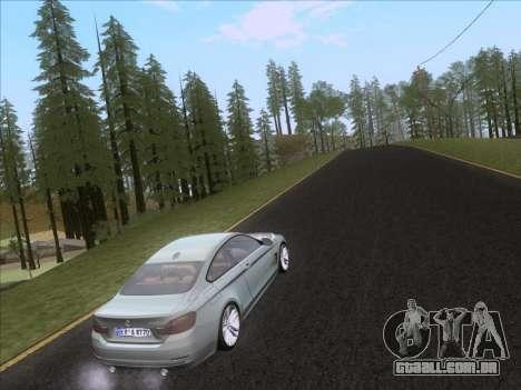 BMW F32 4 series Coupe 2014 para GTA San Andreas vista inferior