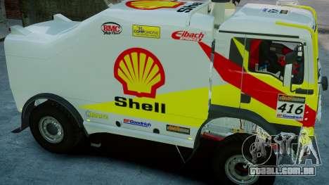 MAN TGA Dakar Truck Shell para GTA 4 vista direita