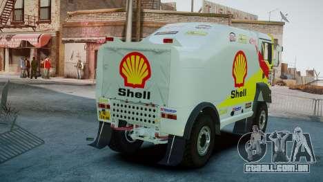 MAN TGA Dakar Truck Shell para GTA 4 traseira esquerda vista