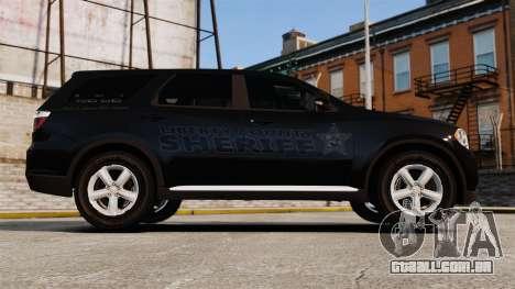 Dodge Durango 2013 Sheriff [ELS] para GTA 4 esquerda vista
