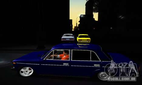 VAZ 2106 para GTA San Andreas vista inferior