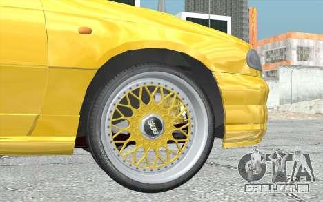 Opel Astra F GSI BBS Style para GTA San Andreas traseira esquerda vista