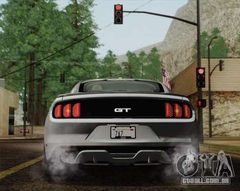Ford Mustang GT 2015 para GTA San Andreas vista inferior